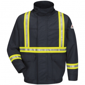 Bulwark FR JLJCNV Lined Bomber Jacket with CSA Compliant Reflective Trim - EXCEL FR ComforTouch