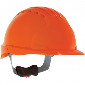 JSP Evolution 6151V Deluxe Vented Hard Hat - Wheel Ratchet Suspension - Hi-Viz Orange