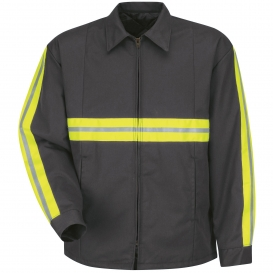 Red Kap JT50 Enhanced Visibility Perma-Lined Panel Jacket - Charcoal
