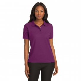 Port Authority L500 Ladies Silk Touch Polo - Deep Berry