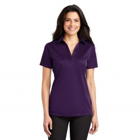 Port Authority L540 Ladies Silk Touch Performance Polo - Bright Purple