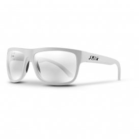 LIFT Safety EBE-18WC Banshee Safety Glasses - White Frame - Clear Lens