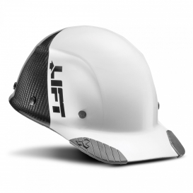 LIFT Safety HDC50C-19 DAX Fifty 50 Carbon Fiber Cap Style Hard Hat - Ratchet Suspension - White