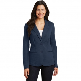 Port Authority LM2000 Ladies Knit Blazer - Deep Navy
