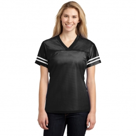 Sport-Tek LST307 Ladies PosiCharge Replica Jersey - Black/White