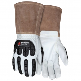 MCR Safety 48406K Premium Goatskin Kevlar Lined Welding Gloves - TPR Back