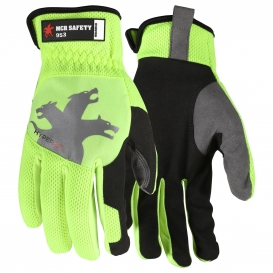 MCR Safety 953 HyperFit Mechanics Gloves - Synthetic Leather Palm