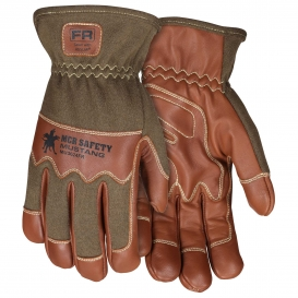MCR Safety MU3624FR Mustang Utility Premium Goatskin Unlined Driver Gloves