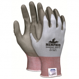 Memphis 9672DT2 PU Coated Cut Resistant Gloves - 18 Gauge DSM Dyneema Diamond Tech 2 Shell