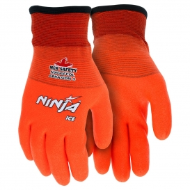 MCR Safety N9690FCO Ninja Ice HPT Fully Coated Gloves - 15 Gauge Nylon Shell - Orange