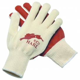 Memphis 9670 Red Hare Nitrile Coated Palm Gloves - 10 Gauge Cotton Shell