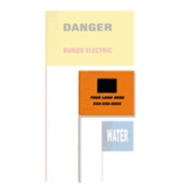 Presco Printed Plastic Marking Flags 4x5