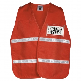 ML Kishigo 3707i 3700 Series Incident Command Vest - International Orange