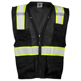 ML Kishigo B100 Enhanced Visibility Multi-Pocket Mesh Vest - Black