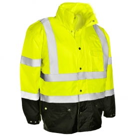 ML Kishigo RWJ102 Storm Cover Rain Jacket - Yellow/Lime