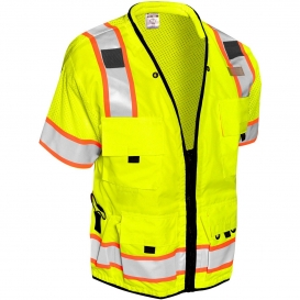 ML Kishigo S5010 Professional Type R Class 3 Surveyor Safety Vest - Yellow/Lime
