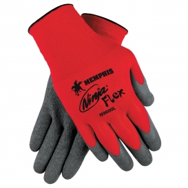 Memphis N9680 Ninja Flex Latex Coated Gloves - 15 Gauge Nylon Shell - Red