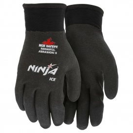 MCR Safety N9690FC Ninja Ice Fully Coated HPT Gloves - 15 Gauge Nylon Shell - Black
