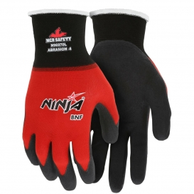 MCR Safety N96970 Ninja BNF Gloves - 18 Gauge Nylon/Spandex Shell - Breathable Nitrile Foam Coated Palm