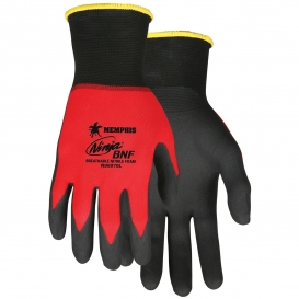 Memphis N96970 Ninja BNF Gloves - 18 Gauge Nylon/Spandex Shell - Breathable Nitrile Foam Coated Palm