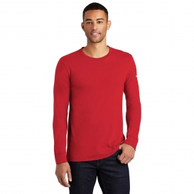 Nike NKBQ5232 Core Cotton Long Sleeve Tee - Gym Red