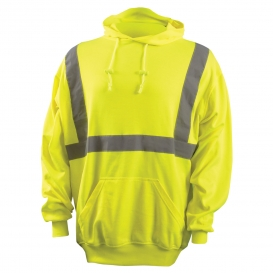 OccuNomix LUX-SWTLH Type R Class 2 Lightweight Safety Hoodie - Yellow/Lime