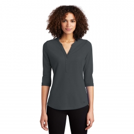 OGIO LOG104 Ladies Jewel Henley - Diesel Grey