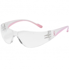 Bouton 250-11-0920 Eva Petite Safety Glasses - Clear/Pink Temples - Clear Anti-Fog Lens