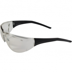 Bouton Tranzmission Safety Glasses - Black Frame - Indoor/Outdoor Mirror Lens
