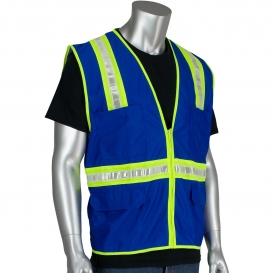 PIP 300-1000 Non-ANSI Two-Tone Surveyor Safety Vest - Blue