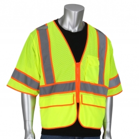 PIP 305-SVZSE Type R Class 3 Self Extinguishing Mesh Surveyor Vest