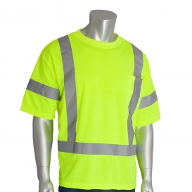 PIP 313-CNTSE Type R Class 3 Short Sleeve Safety T-Shirt - Yellow/Lime