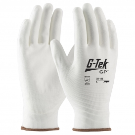 PIP 33-125 G-Tek NP Seamless Knit Nylon Gloves - Polyurethane Coated Smooth Grip on Palm & Fingers