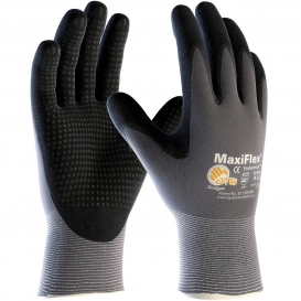 PIP 34-844 MaxiFlex Endurance Seamless Knit Nylon Gloves with Nitrile Coated Palm & Fingers - Micro Dot Palm