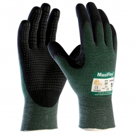 PIP 34-8443 MaxiFlex Cut Seamless Knit Gloves - Nitrile Coated Micro-Foam Dotted Grip