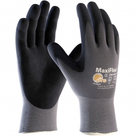 PIP 34-874 MaxiFlex Ultimate Seamless Knit Nylon/Lycra Gloves - Nitrile Coated Micro-Foam Grip on Palm & Fingers