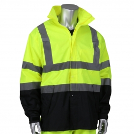 PIP 353-1200 Falcon Viz Type R Class 3 Value All Purpose Black Bottom Jacket - Hi-Vis Yellow