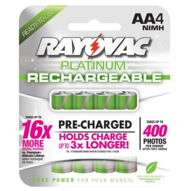 Rayovac Platinum Rechargeable AA Batteries