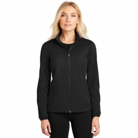 Port Authority L717 Ladies Active Soft Shell Jacket - Deep Black