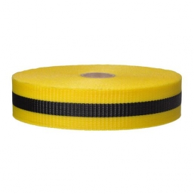 Presco BW2YBK200 2x200 Woven Barricade Ribbon - Yellow with Black Stripe