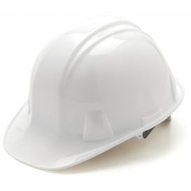 Pyramex HP14010 Hard Hat - 4-Point Snap Lock Suspension - White