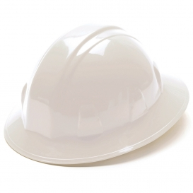 Pyramex HP24110 Full Brim Hard Hat - 4-Point Ratchet Suspension - White