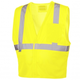 Pyramex RVHL2510BRD Type R Class 2 Breakaway Safety Vest - Yellow/Lime