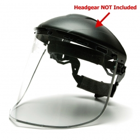 Pyramex S1040 Aluminum Bound Polycarbonate Face Shield - Clear (Headgear Sold Separately)