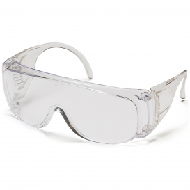 Pyramex S510S Solo Safety Glasses - Clear Frame - Clear Lens