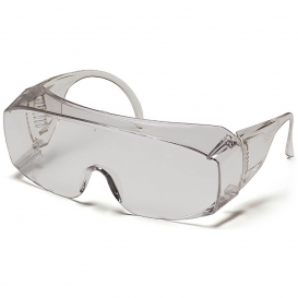 Pyramex S510SJ Solo Safety Glasses - Clear Jumbo Frame - Clear Lens