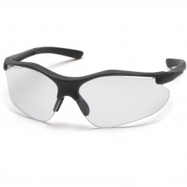 Pyramex SB3710DT Fortress Safety Glasses - Black Frame - Clear Anti-Fog Lens