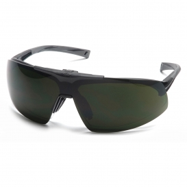 Pyramex SB4950STP Onix Plus Safety Glasses - Black Frame - Clear Anti-Fog Lens - Flip Up 5.0 IR Filter Lens
