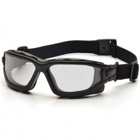 Pyramex SB7010SDT I-Force Safety Glasses/Goggles - Black Frame - Clear H2X Anti-Fog Lens