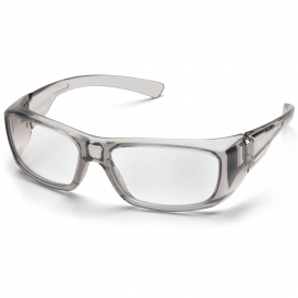 Pyramex SG7910D Emerge Safety Glasses - Gray Frame - Clear Full Reader Lens